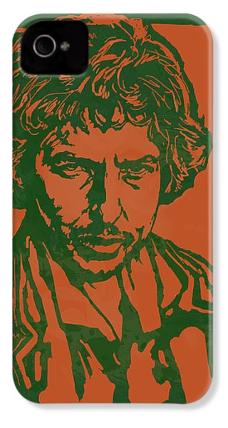 Bob Dylan Pop Stylised Art Sketch Poster IPhone 4 Case by Kim Wang