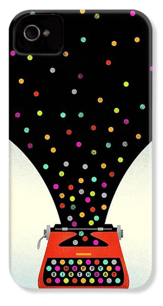 Bold And Graphic Vintage Typewriter IPhone 4 / 4s Case by Gillham Studios