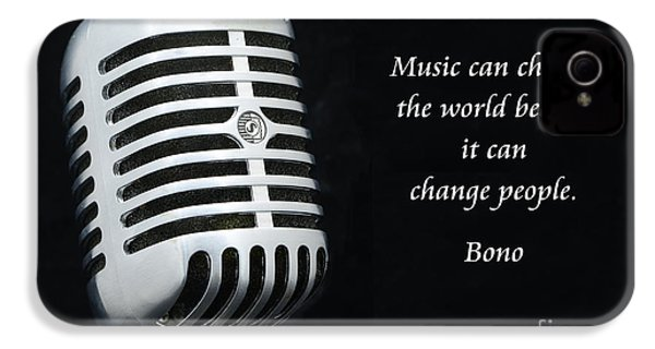Bono On Music IPhone 4 / 4s Case by Paul Ward