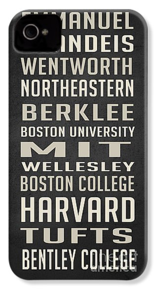 Boston Colleges Poster IPhone 4 Case by Edward Fielding