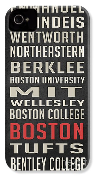 Boston Collegetown IPhone 4 / 4s Case by Edward Fielding