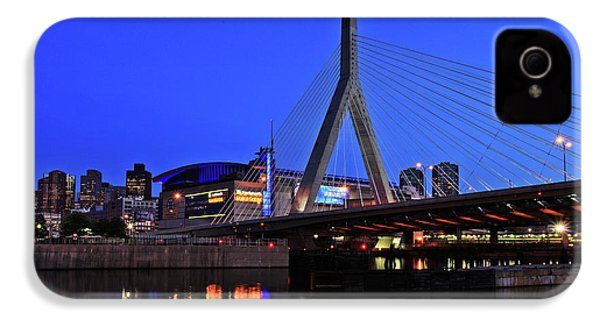 Boston Garden And Zakim Bridge IPhone 4 / 4s Case by Rick Berk