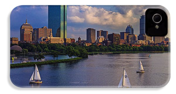 Boston Skyline IPhone 4 / 4s Case by Rick Berk