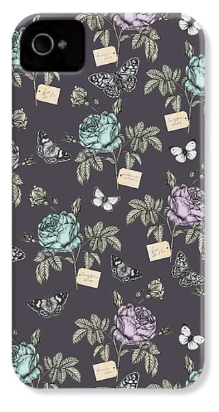 Botanical Roses IPhone 4 / 4s Case by Stephanie Davies