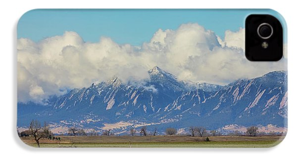 IPhone 4 Case featuring the photograph Boulder Colorado Front Range Cloud Pile On by James BO Insogna