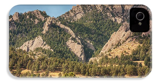IPhone 4 Case featuring the photograph Boulder Colorado Rocky Mountain Foothills by James BO Insogna