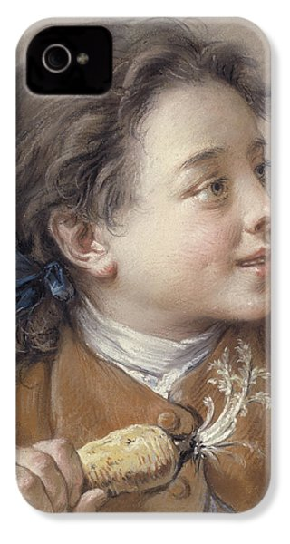 Boy With A Carrot, 1738 IPhone 4 Case by Francois Boucher