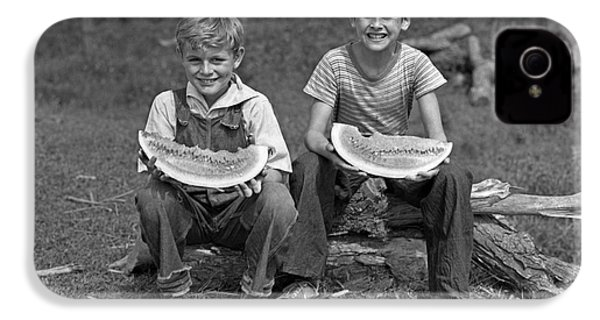 Boys Eating Watermelons, C.1940s IPhone 4 Case by H. Armstrong Roberts/ClassicStock