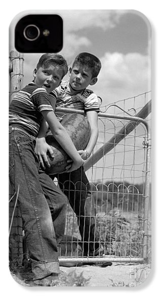 Boys Stealing A Watermelon, C.1950s IPhone 4 / 4s Case by H. Armstrong Roberts/ClassicStock