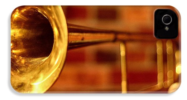 Brass Trombone IPhone 4 Case by David  Hubbs