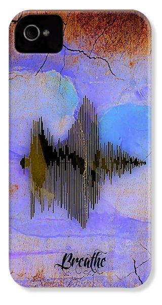 Breathe Spoken Soundwave IPhone 4 Case by Marvin Blaine