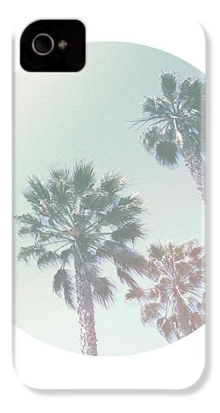 Breezy Palm Trees- Art By Linda Woods IPhone 4 / 4s Case by Linda Woods