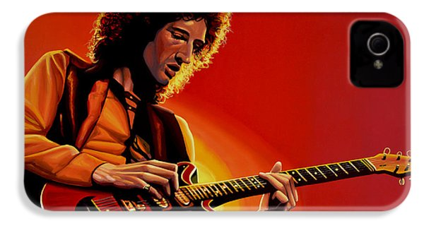 Brian May Of Queen Painting IPhone 4 Case by Paul Meijering