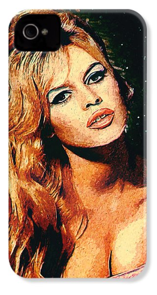 Brigitte Bardot IPhone 4 Case by Taylan Apukovska