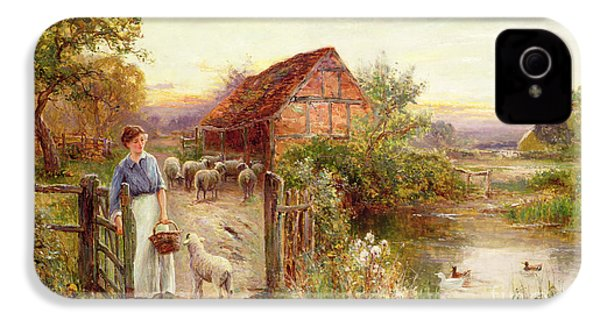 Bringing Home The Sheep IPhone 4 Case by Ernest Walbourn