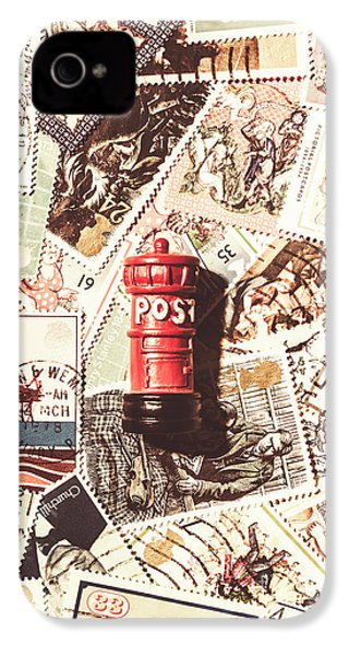 IPhone 4 Case featuring the photograph British Post Box by Jorgo Photography - Wall Art Gallery