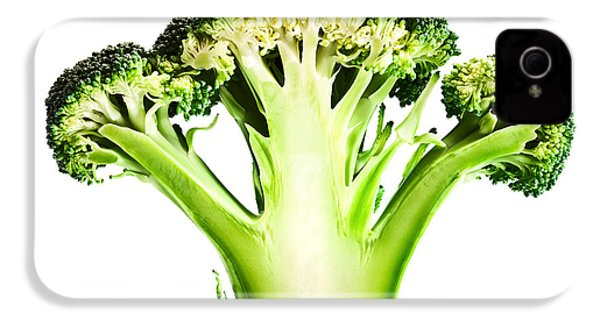 Broccoli Cutaway On White IPhone 4 Case by Johan Swanepoel