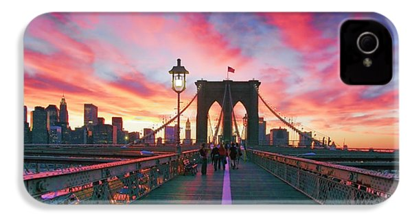 Brooklyn Sunset IPhone 4 Case by Rick Berk