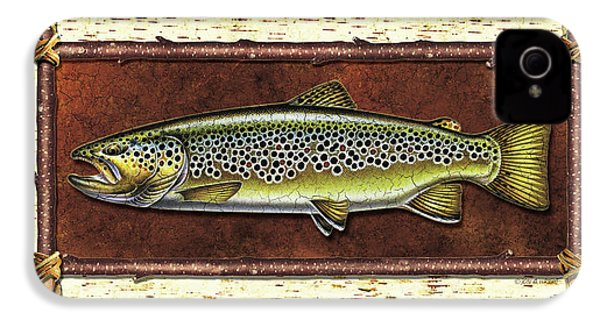 Brown Trout Lodge IPhone 4 Case