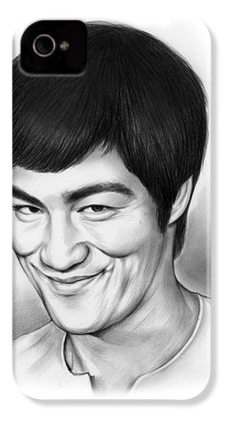 Bruce Lee IPhone 4 Case by Greg Joens