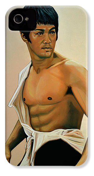 Bruce Lee Painting IPhone 4 Case