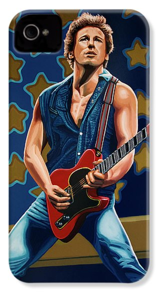 Bruce Springsteen The Boss Painting IPhone 4 / 4s Case by Paul Meijering