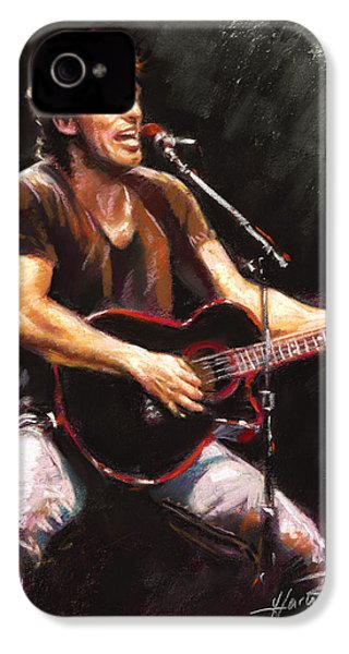 Bruce Springsteen  IPhone 4 Case by Ylli Haruni