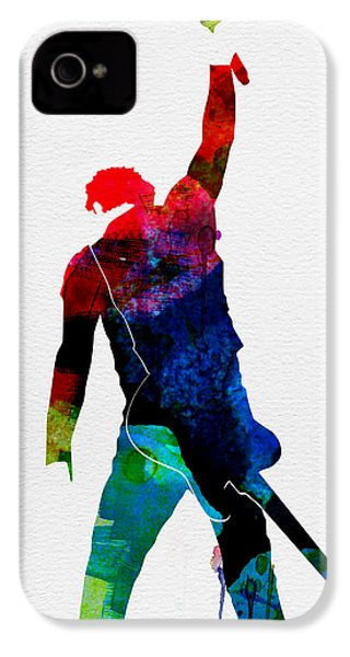 Bruce Watercolor IPhone 4 Case by Naxart Studio