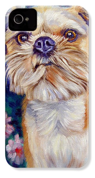 Brussels Griffon IPhone 4 Case by Lyn Cook