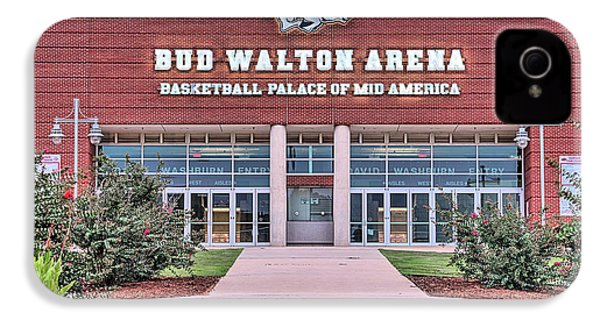 Bud Walton Arena IPhone 4 Case by JC Findley