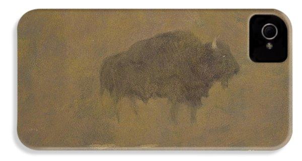 Buffalo In A Sandstorm IPhone 4 / 4s Case by Albert Bierstadt