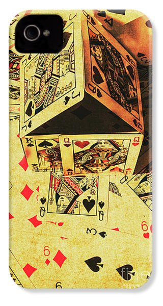 IPhone 4 Case featuring the photograph Building Bets And Stacking Odds by Jorgo Photography - Wall Art Gallery