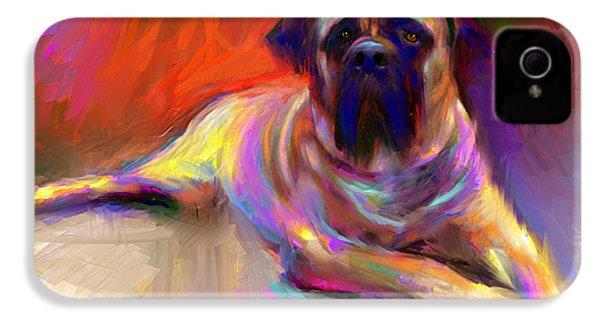 Bullmastiff Dog Painting IPhone 4 Case