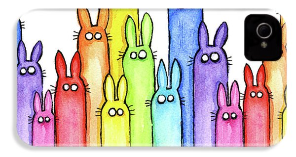 Bunny Rainbow Pattern IPhone 4 Case