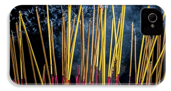 Burning Joss Sticks IPhone 4 Case by Hitendra SINKAR