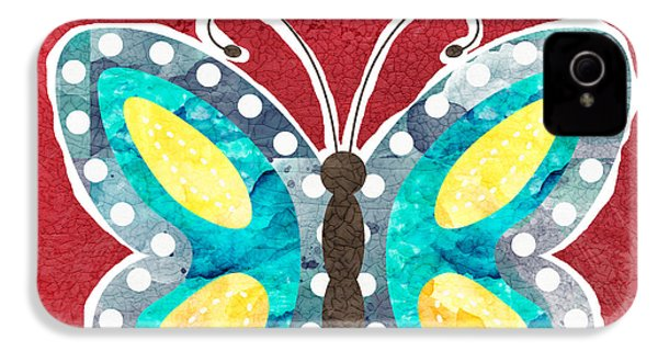 Butterfly Liberty IPhone 4 Case by Linda Woods