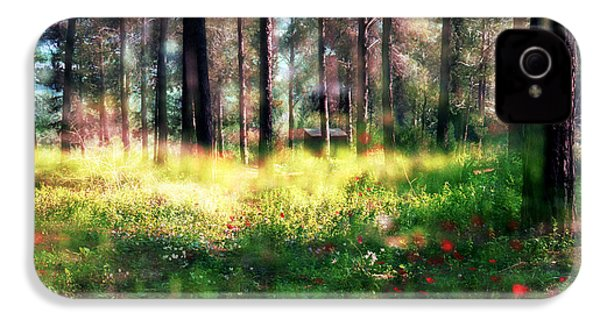 IPhone 4 Case featuring the photograph Cabin In The Woods In Menashe Forest by Dubi Roman
