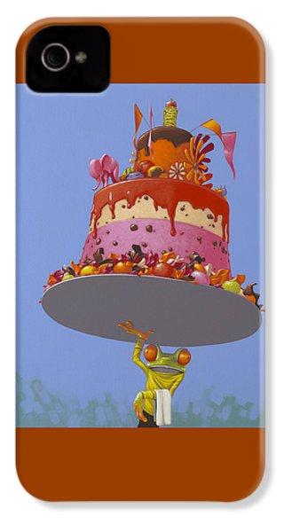 Cake IPhone 4 / 4s Case by Jasper Oostland