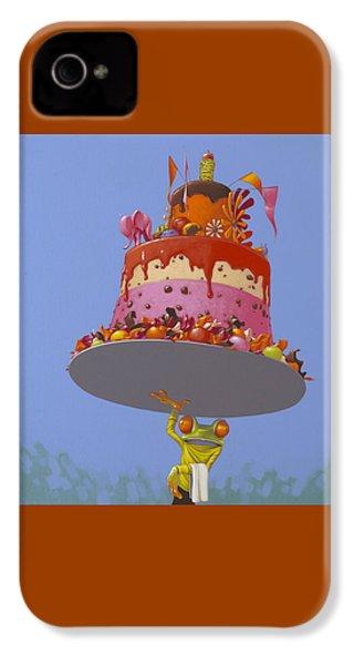 Cake IPhone 4 Case by Jasper Oostland