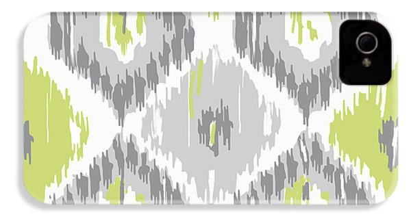 Calyx Ikat Pattern IPhone 4 / 4s Case by Mindy Sommers