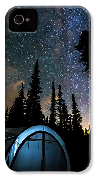 IPhone 4 Case featuring the photograph Camping Star Light Star Bright by James BO Insogna