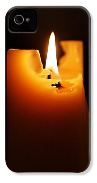 Candlelight IPhone 4 / 4s Case by Rona Black