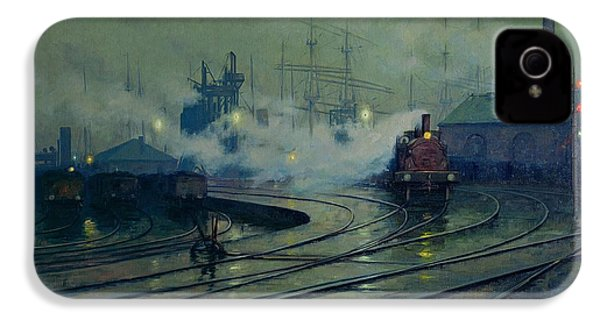 Cardiff Docks IPhone 4 Case by Lionel Walden