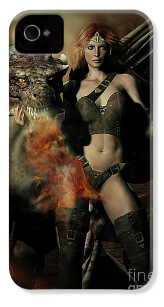 Careful He Burns IPhone 4 Case by Shanina Conway