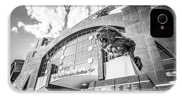 Carolina Panthers Stadium Black And White Photo IPhone 4 / 4s Case by Paul Velgos