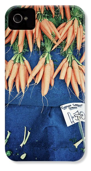 Carrots At The Market IPhone 4 Case by Tom Gowanlock