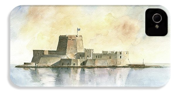 Castle Of Bourtzi In Nafplio IPhone 4 / 4s Case by Juan Bosco