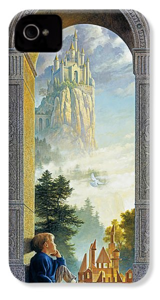 Castles In The Sky IPhone 4 / 4s Case by Greg Olsen