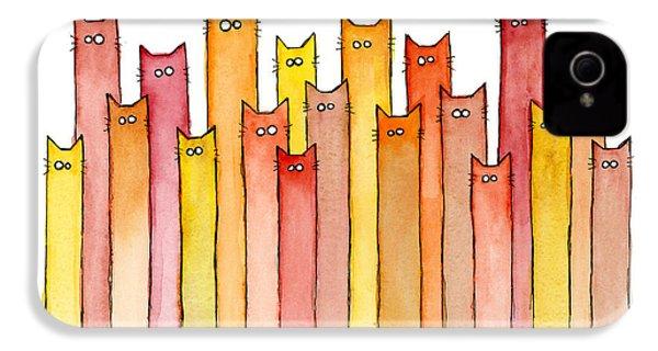 Cats Autumn Colors IPhone 4 Case by Olga Shvartsur