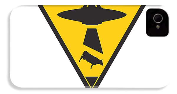 Caution Ufos IPhone 4 / 4s Case by Pixel Chimp